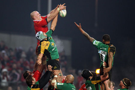 Paul O'Connell was inspirational at the lineout