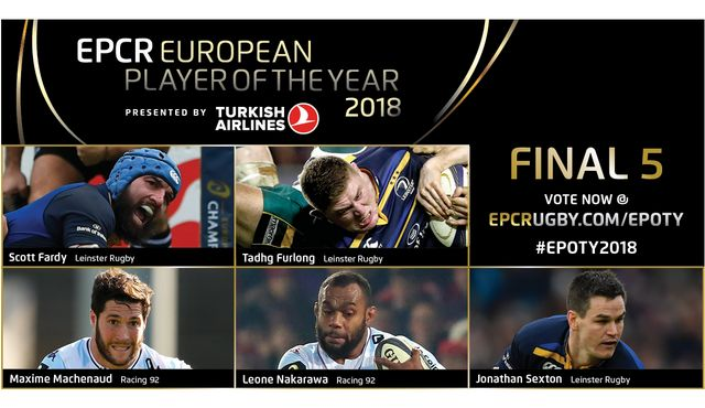 Champions Cup finalists dominate EPCR European Player of the Year 2018 shortlist
