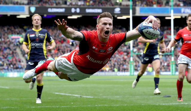 Chris Ashton Try (Saracens) - Champions Cup Final